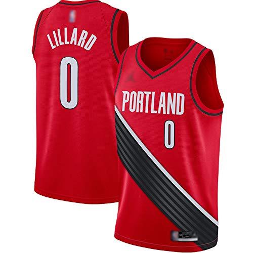 Camisetas de baloncesto personalizadas Damian Trail Blazers NO.0 Rojo, Portland Lillard 2020/21 Swingman Jersey Transpirable Casual Camisetas para Hombre - Edición Declarativa
