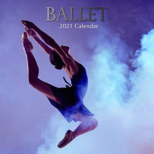 2021 Wandkalender - Ballett Kalender, 30 x 30 Zentimeter Monatsansicht, 16-Monat, Enthält 180 Aufkleber auf Englisch
