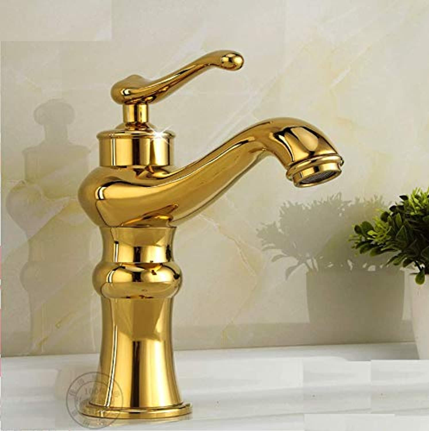 Bathroom Sink Taps Faucet gold All Copper Antique Faucet Hot and Cold Basin Faucet???Faucet Copper
