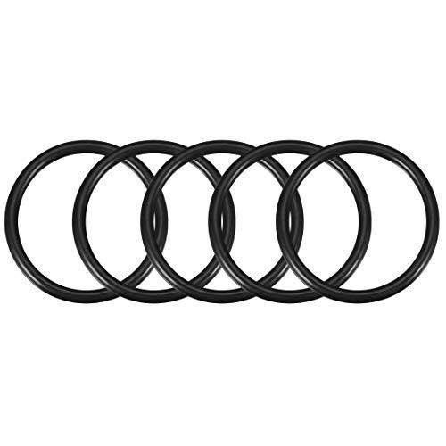sourcing map O-Ringe aus Nitrilkautschuk 50 mm Außendurchmesser 40 mm Innendurchmesser 5 mm Breite, metrische Dichtung, 5er-Pack