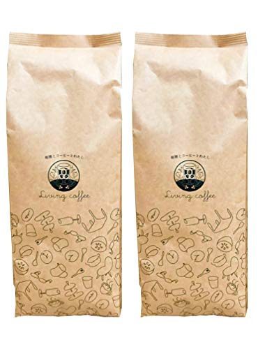 コーヒー豆 アラビカ100%使用 2kg kingFortissimo 深煎り焙煎 豆のままでお届け ブラジル/コロンビア/ホンジュラスの豆使用
