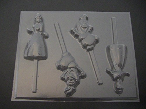 Frosted Princess Chocolate Candy Lollipop Mold 476