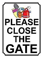 ゲートを閉じてください メタルポスター壁画ショップ看板ショップ看板表示板金属板ブリキ看板情報防水装飾レストラン日本食料品店カフェ旅行用品誕生日新年クリスマスパーティーギフト