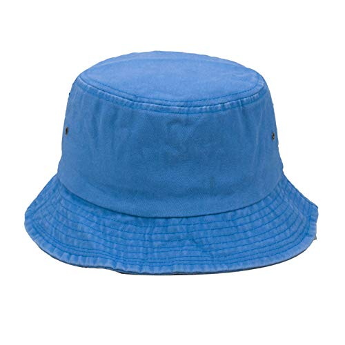 GTHTTT Gorro De Cubo con Estilo Vaquero Pescador Sombrero Transpirable Exquisita Apariencia Plegable Ocio Sombreros,Azul,58cm