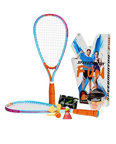 スピードミントンファン バドミントンセット ラケット2本&シャトルセット Speedminton Fun Badminton Set [並行輸入品]