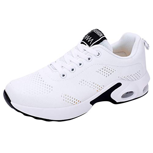 Yesmile Femme Baskets Chaussures de Coussin d'air Mesh Respirante à Confortables Running Fitness Sneakers Outdoor Casual Fonctionnement