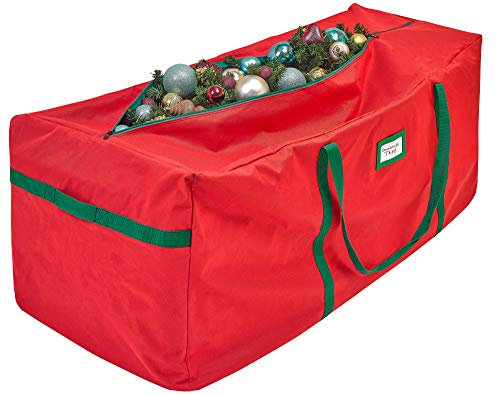Christmas Tree Storage Bag – Heavy Duty Tear Proof 600D/ Inside PVC Material for Extra Durability - Premium Durable Quality - Extra Large Artificial Xmas Tree Duffel Bag - Fits Up Till 9 Ft. Trees