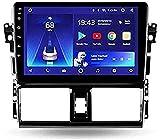 Radio estéreo para automóvil para Toyota Vios XP150 2013-2020, navegación GPS Sat Nav Double DIN Receptor de Video Multimedia Digital de 9 Pulgadas Carplay DSP RDS (Color: 4Cores, Size: 2G + 32G)