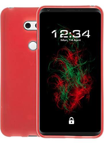 Baluum TPU Matt rote Hülle für LG V30/V30S ThinQ Schutzhülle Hülle Cover Handyhülle Backcover Silikonhülle