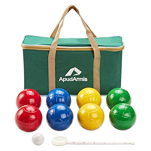 ApudArmis 90mm Bocce Balls Set, Lighter Outdoor Bocce Game for...