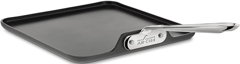 All-Clad 3021 Hard Anodized Aluminum Scratch Resistant Nonstick Anti-Warp Base Square Griddle Specialty Cookware, 11-Inch, Black