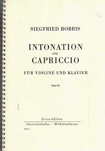 Siegfried Borris - Intonation und Capriccio op 62 für Violine und Klavier