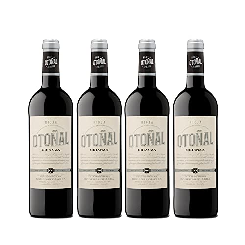 Otoñal - Vino Tinto Crianza, DOCa La Rioja, un Vino Clásico Renovado de Bodegas Olarra, Pack de 4 Botellas de 750 ml