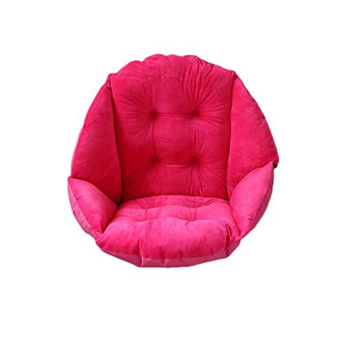 Cojín de asiento monobloc, cojín de silla de oficina, cojín de asiento de lana Comfort para el respaldo de la cintura para silla de oficina en casa, asiento de coche