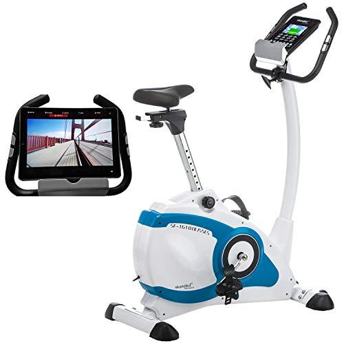 skandika Ulisses Vélo d'Appartement Ergomètre – Appli pour Smartphone iconsole et Fonction Google Street View – Max. 150 kg - Inertie 10 Kg – Bluetooth