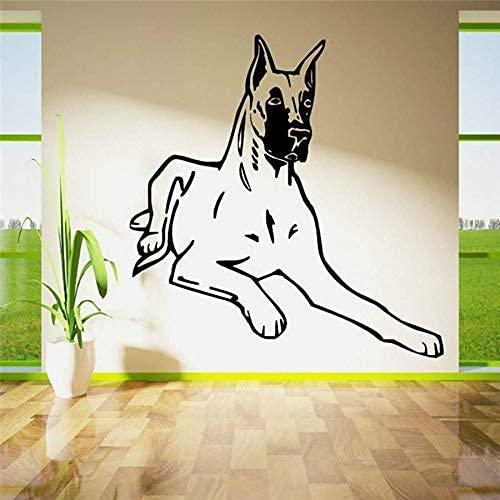 57X57Cm Calcomanía De Pared Extraíble Perro Decoración Del Hogar Habitación De Mascotas Pegatina De Pared Arte Vinilo Perro Curvado Pegatina De Pared Mural Decorativo