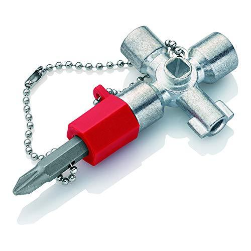 KNIPEX 00 11 02 Schaltschrank-Schlüssel für gängige Schränke und Absperrsysteme 44 mm