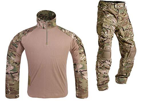 Mensche Militär Kleidung Paintball Kriegsspiel Kampf Gen3 Taktisch Uniform Hemd Hose Kniepolster Multicam MC (L)