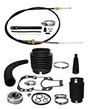 RPS Transom Rebuild Service Kit with Gimbal Bearing, Shift Cable, u-Joint, Shift, and Exhaust Bellows for Mercruiser Alpha 1 One Gen II 2 sterndrive inboard/Outboard