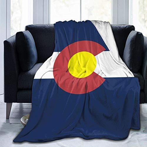 Tonesum Fleecedecke Amerika USA Colorado Flagge Mikrofaser Leichte Bettwäsche Decken Super Weiches Bett Gemütliches Sofa Warme Yoga Matten Decken Werfen L