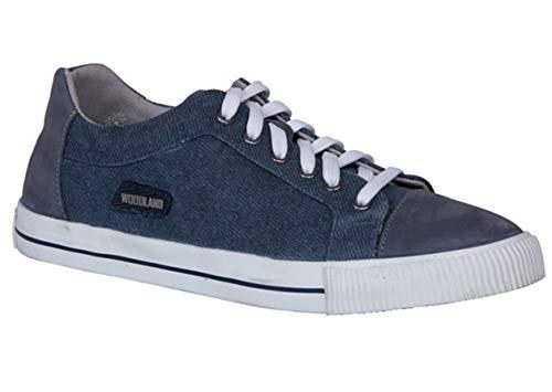 Woodland Men's Denim Canvas Sneakers - 8 UK/India (42EU), (GC 2542117C)