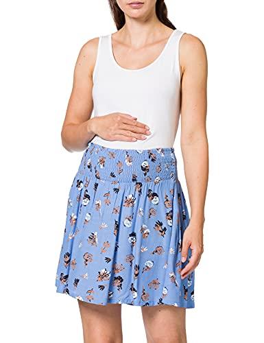 Mamalicious MLISABEL Woven HW Short Skirt A. Gonna, Allure/AOP: Piccoli Fiori, XS Donna