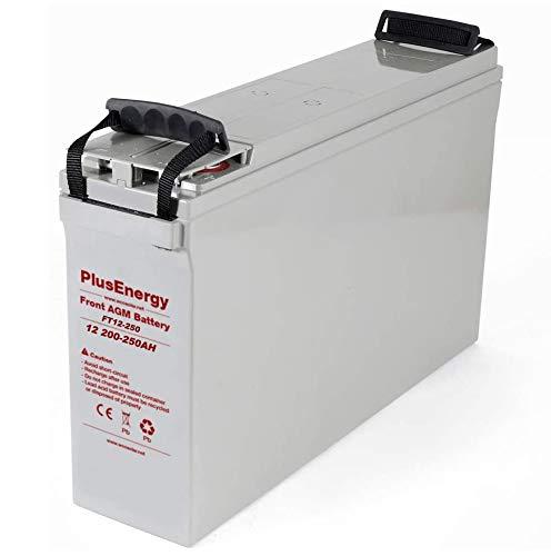 BaterÍa 12V AGM 200Ah-250Ah (C10-C100) para instalaciones solar, autocaravana,telefonica y hogal
