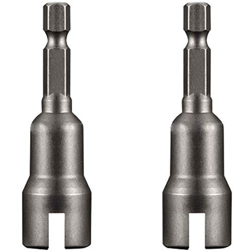MOROBOR Magnetic Nut Setter, 4Pcs 1/4'' 2.5 Inch Long Steel Magnetic Nut Setter for Quicker Change Chuck, Electric Hand Drill