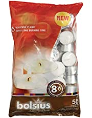 Bolsius 8 Hour Burning Tealights, Pack of 50