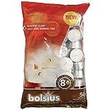 Bolsius Bougie Chauffe-Plat 103630519700 - Cire de Paraffine - Blanc - Paquet de 50 pièces.