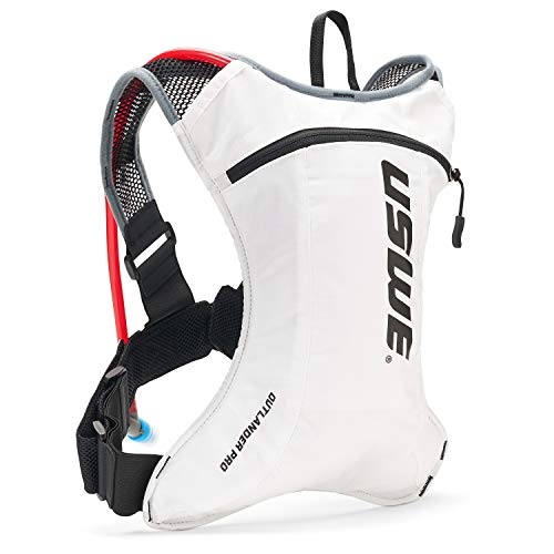 USWE Outlander Pro Hydration Pack with 20L/ 70 oz Hydration Bladder White Bounce Free for MTB Mountain Bike Marathon Racing