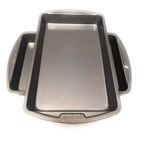 Good Cook 11 Inch x 7 Inch Biscuit/Brownie Pan 2 pack