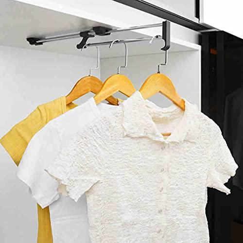 Kleiderstange ausziehbar Kleiderschrank Kleiderbügel, Metall Stretchable Kleiderstange für Schrank, 25-50cm Kleiderstange (Size : 40cm)