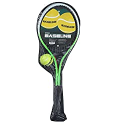 Two person tennis set includes two tennis rackets, one tennis ball and a carry case Ideal way of encouraging children to get fit and healthy in a competitive way ideal starter set for introducing kids to tennis Comes with a handy zip up carry bag for...