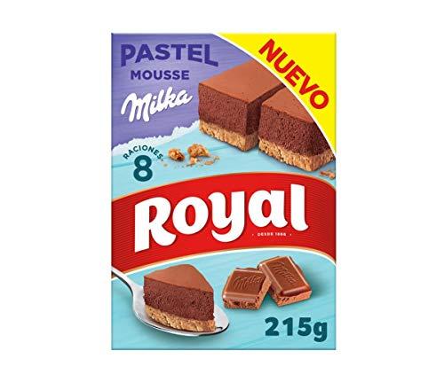 Royal Pastel Mousse de Chocolate Milka, Preparado en Polvo 8 Raciones, 215g