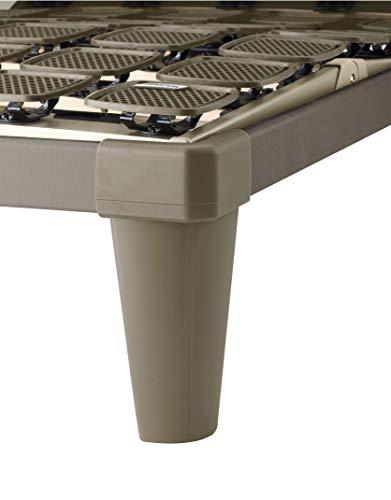 Tempur Dualfüße, Standard Bettfüße für freistehende Flex Systemrahmen, Kunststoff, Cappuccino braun, 25 cm