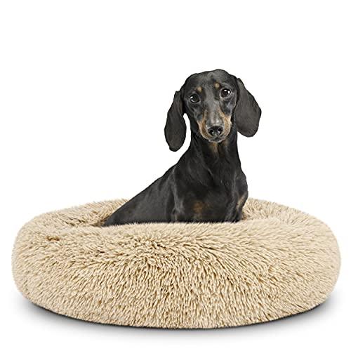 The Dog's Bed Lit pour chien en forme de donut avec housse amovible Beige