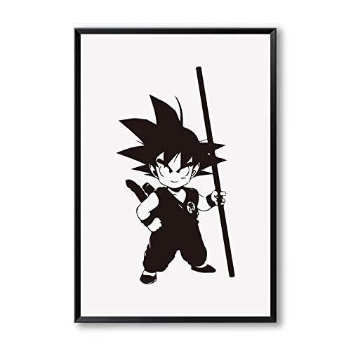 YIYEBAOFU DIY Pintar por números Dragon Ball Son Goku Cute A Canvas Painting Art Print Poster Picture Decoración del hogar Boy Dormitorio Decoración de la Pared Murales40x50cm(Sin Marco)