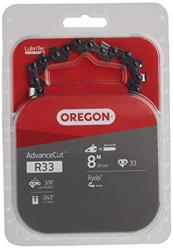 Oregon R33 AdvanceCut 8-Inch Chainsaw Chain, Fits Poulan, Ryobi