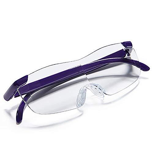 Jian E - & Lupe - Der alte Mann mit einer Lupe Lesen eines Buches zum Lesen älterer Personen mit einem tragbaren Headset Typ HD Brillen-Typ Extended Mirror Glasses Vergrößerungsglas-Lesebrille 300 Gra