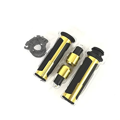 7/8'22mm Universal Road & Racing CNC Aluminio CNC para Barracuda Motorcycle Handle Gaps Gorbar Handlebar Grips para CB599 / CB600 (Color : Gold)