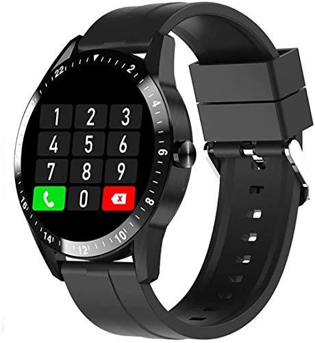 Pulsera inteligente con Bluetooth, pantalla redonda de 1,28 pulgadas, con monitor de ritmo cardíaco, monitor de sueño, podómetro, adecuado para mujeres y hombres