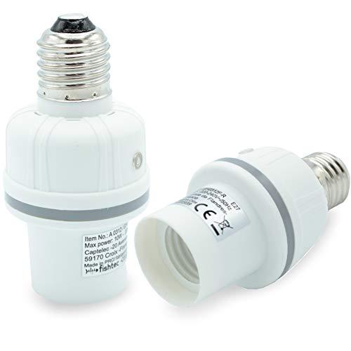 Douille Nocturne avec Eclairage Aléatoire - Simulateur de Présence - Dissuasive pour Les Cambrioleurs - Douille Ampoule E27 - Blanc