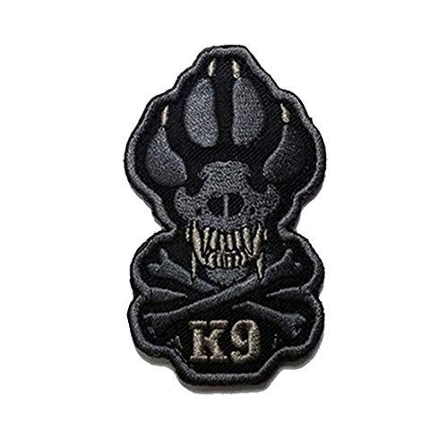 K9 & Crossbone Killer Attack - Parche bordado para perro de policía