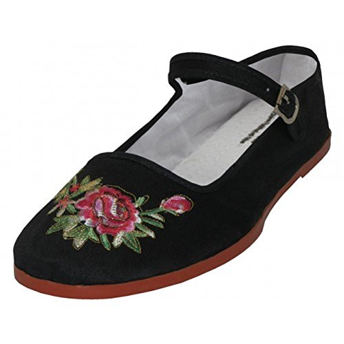 AimTrend Women's Cotton Mary Jane Ballerina Ballet Flats Shoes