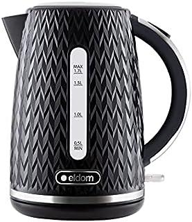 Bouilloire sans fil C260C 1,7 litre, 2000 watts, noir, design original, superbes finitions argentées