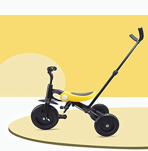 SHARESUN 3 In 1 Kids driewieler voor jongens en meisjes, peuter driewielers evenwicht fiets vouwen kind Trike met ouders stuur voor 1-6 jaar oude kinderen lopen 3 Wheeler fiets