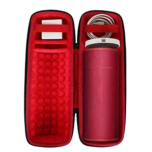 Hart Reise Schutz Hülle Etui Tasche für Ultimate Ears UE Megaboom 3 Bluetooth Lautsprecher von co2CREA (Schwarz Hülle + Innen Rot, Lautsprecher Nicht einschließen)