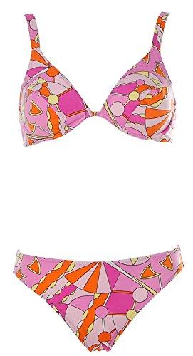APART Fashion Apart Damen Bügel Bikini Alloverprint Beachwear Rosa 36