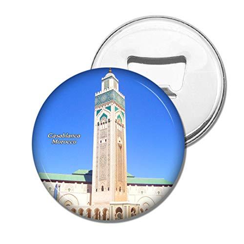 Weekino Marokko Hassan II Moschee Casablanca Bier Flaschenöffner Kühlschrank Magnet Metall Souvenir Reise Gift